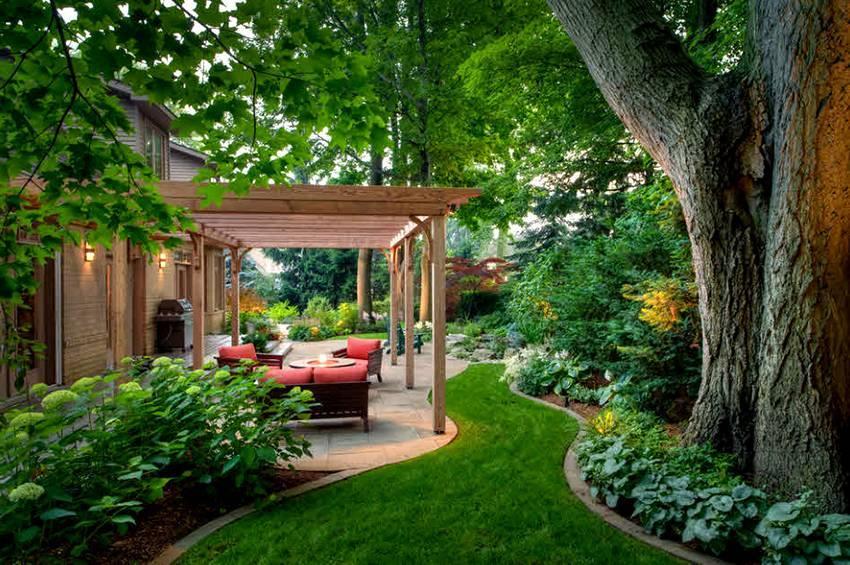 Пергола в ландшафтном дизайне: 60 красивых идей