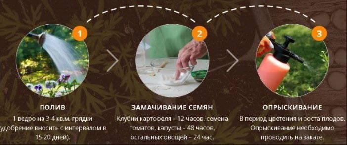 Применение удобрения биогров для культурных растений