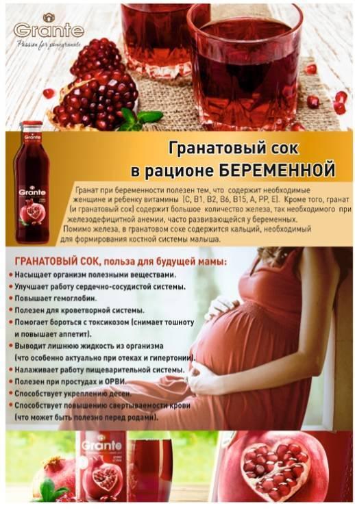 Гранат при беременности на ранних и поздних сроках
