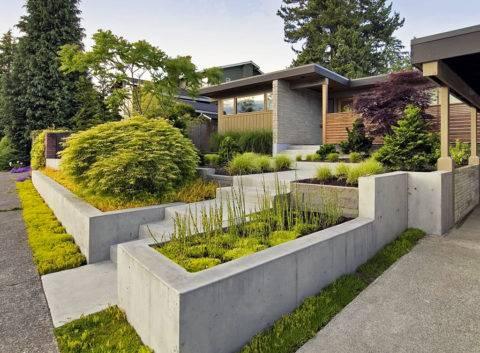 Подпорная стенка: лучшие конструкции, популярные виды, современные материалы и особенности монтажа (85 фото)
