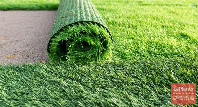 Искусственный газон на участке своими руками