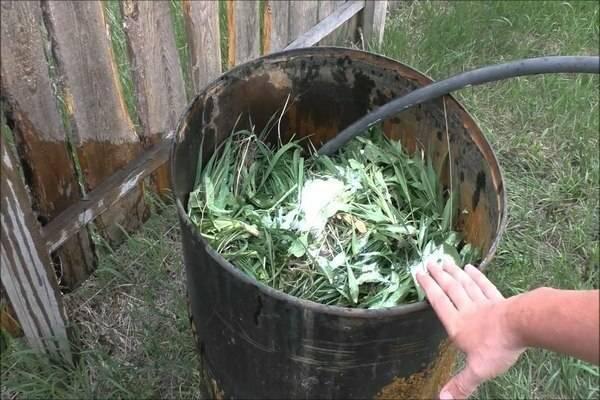 Как сделать удобрение из сорняков