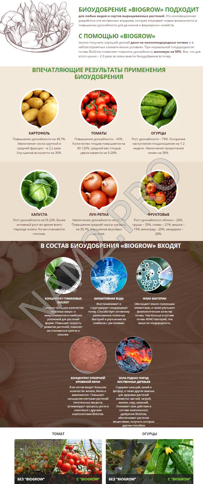 Удобрение biogrow: преимущества и недостатки применения