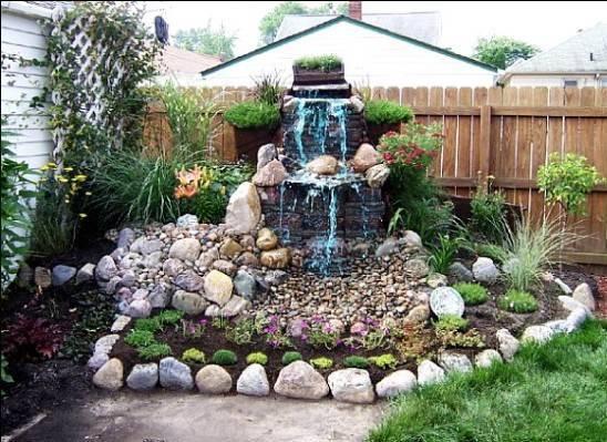 Красивый водопад на даче: красивые варианты дизайна, советы по выбору и применению конструкции (100 фото + видео)