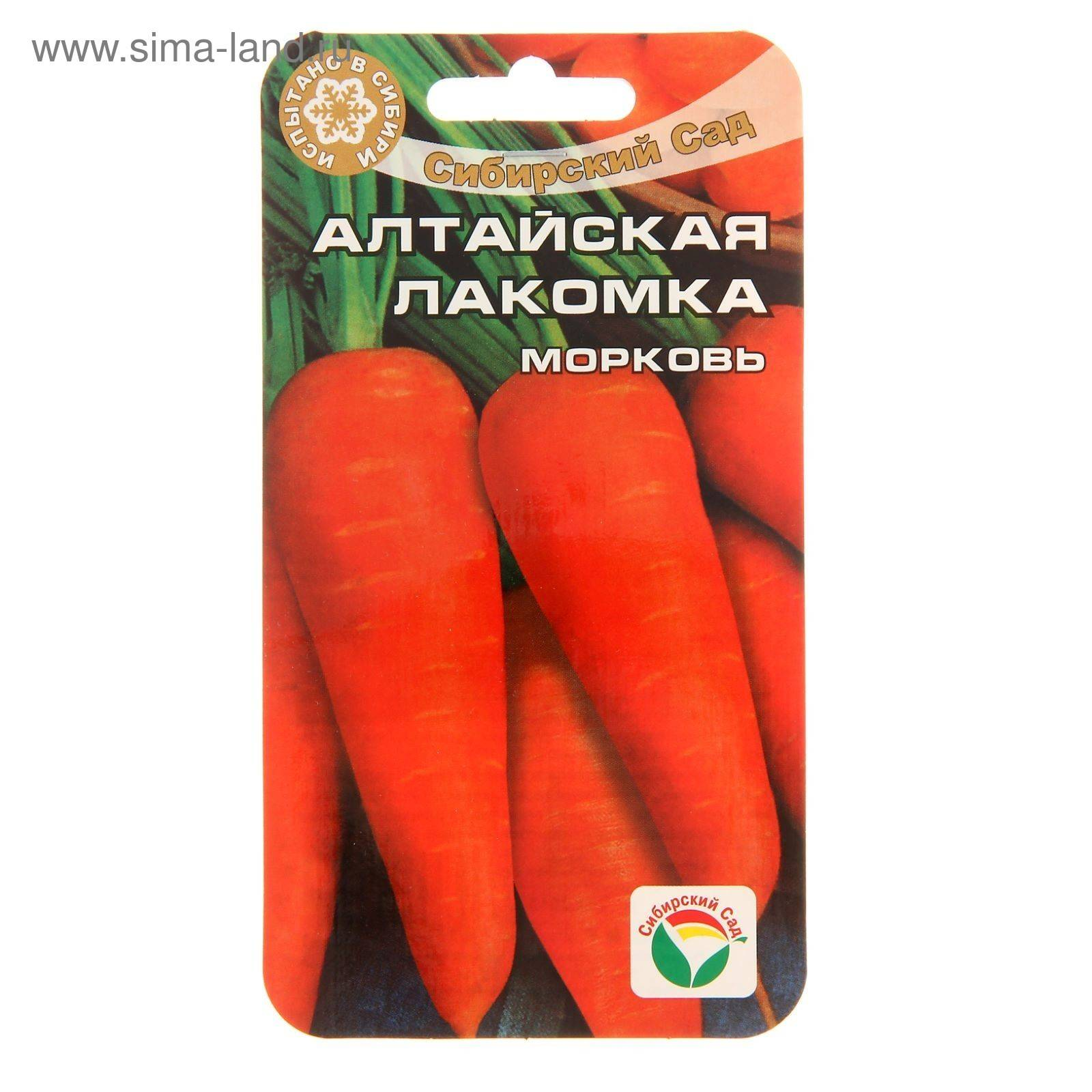 Описание и характеристики моркови сорта алтайская лакомка