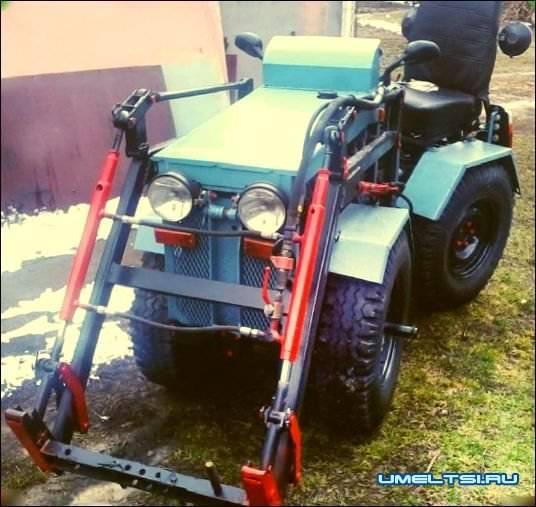 Изготовление мини-трактора своими руками