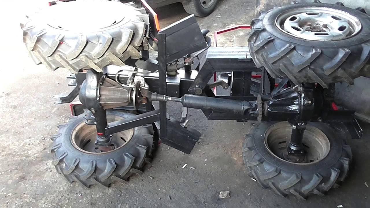 Мини-трактор переломка: особенности самодельных моделей. как сделать полноприводный мини-трактор с ломающейся рамой своими руками по чертежам?