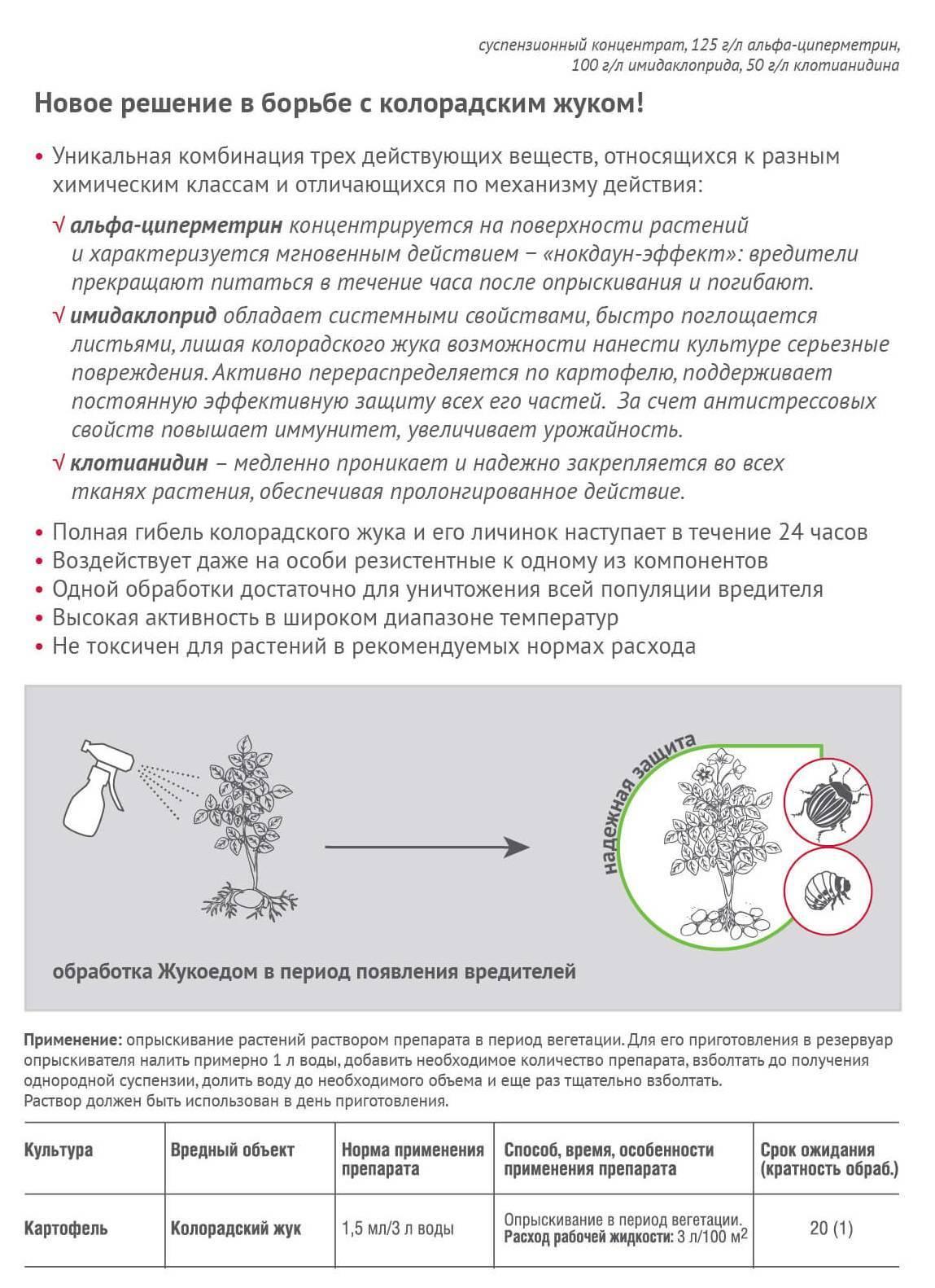 Жукоед от колорадского жука: инструкция по применению