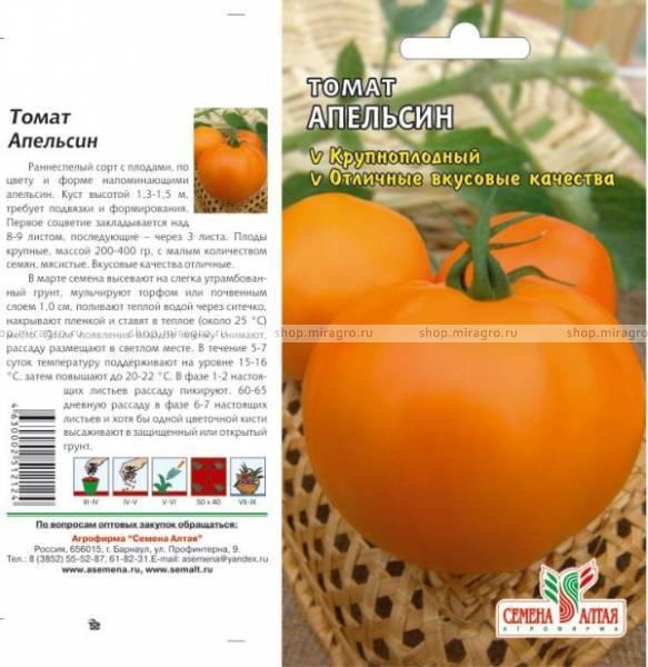 Помидоры апельсин: описание, технология выращивания