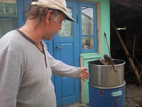 Самодельная медогонка из стиральной машины