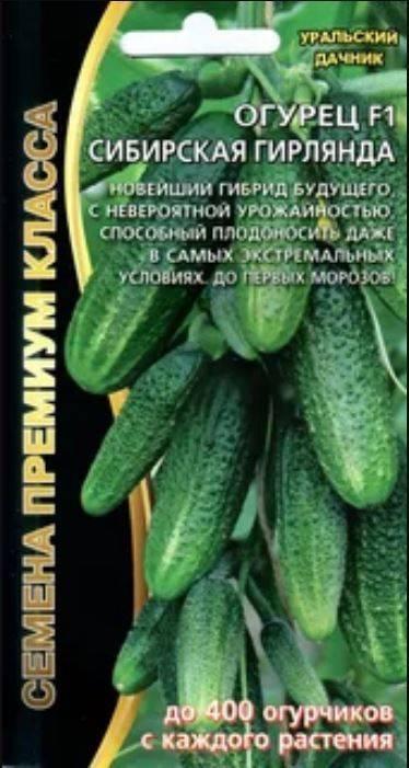 Характеристика и описание сорта огурцов «сибирская гирлянда»