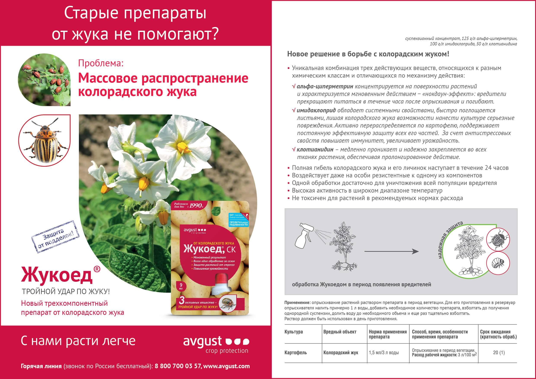 Инструкция по применению жукоеда от колорадского жука