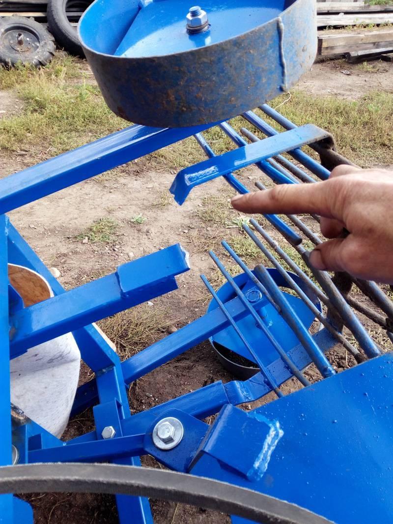 Картофелекопалка для мотоблока своими руками