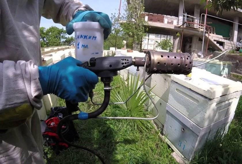 Как правильно обрабатывать пчел дымом пушкой (бипином)