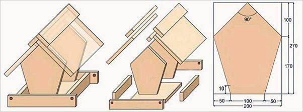 Кормушки для кур своими руками из подручных материалов