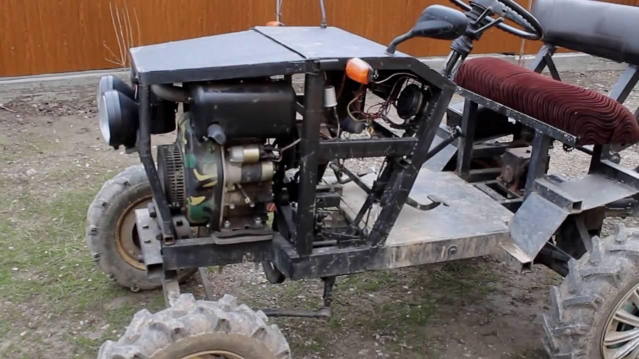 Мини-трактор из мотоблока (50 фото): как сделать своими руками? какой комплект нужен для переделки? делаем мини-трактор из мотоблоков «агро», «салют» и других
