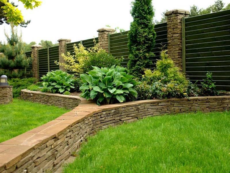 Красивая подпорная стенка: материалы и дизайн (100 вариантов на фото)