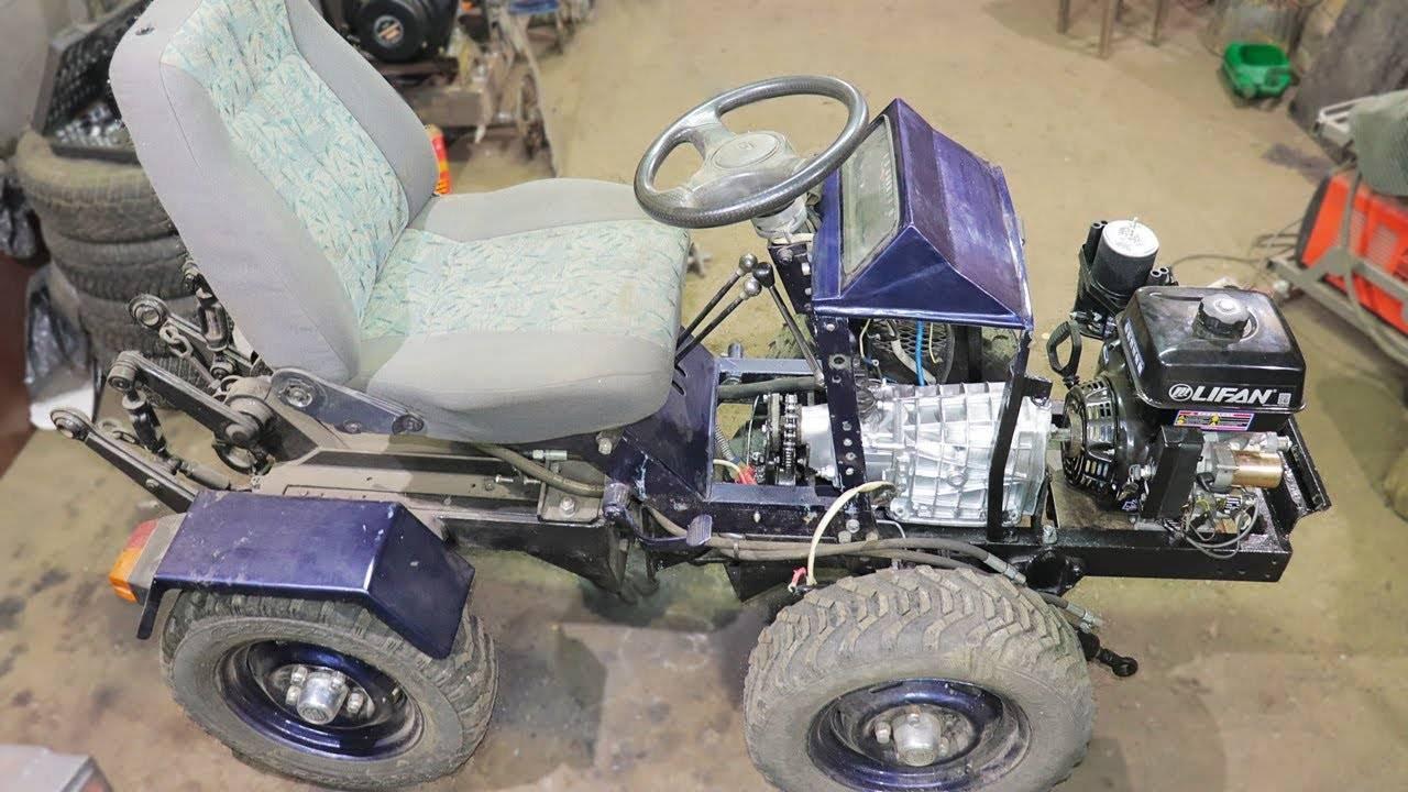 Трактор из мотоблока своими руками: как сделать минитрактор и мини-экскаватор из мтз, нева и каскад