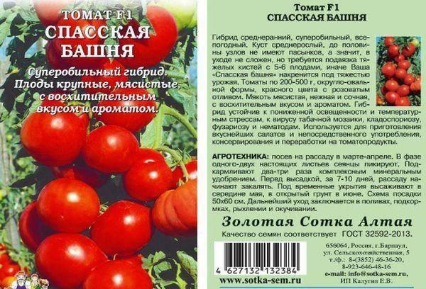 Сорт томата «спасская башня f1», урожайность, фото и отзывы