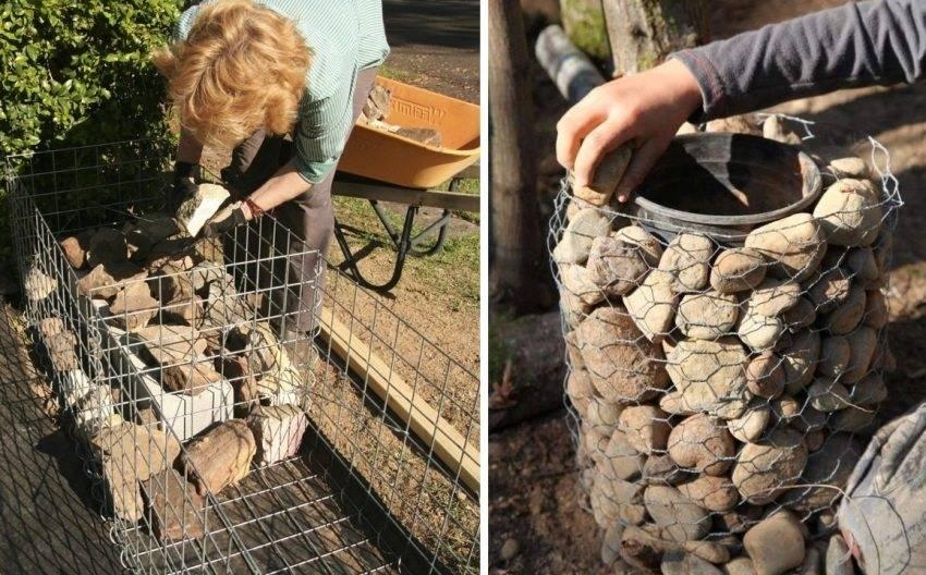 Габионы своими руками из сетки и пошаговая инструкция по изготовлению