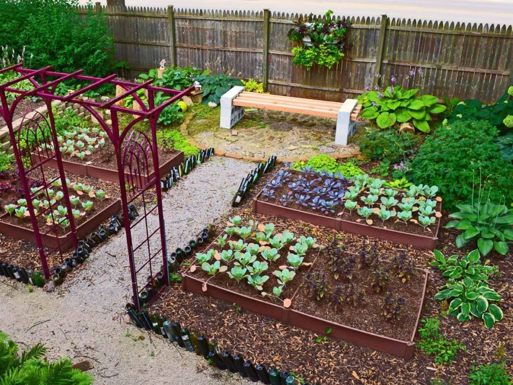 Как сделать красивый дизайн огорода своими руками: 100 фото