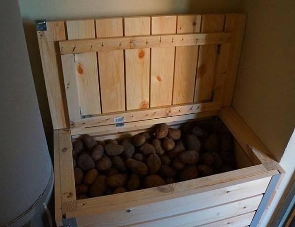 Как сделать ящик для хранения картофеля зимой