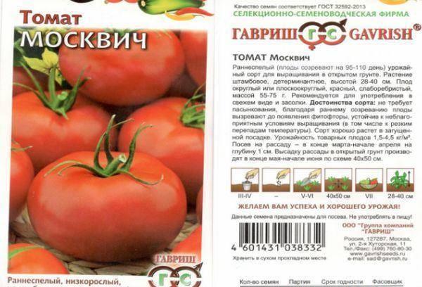 Столичный гость на грядке — сорт томата «москвич», описание, характеристики, фотографии