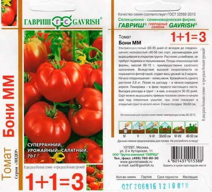 Сорт помидора «бони мм»: фото, отзывы, описание, характеристика, урожайность