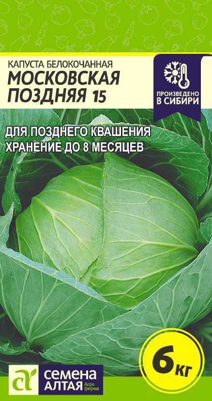 Описание сорта капусты московская поздняя 15