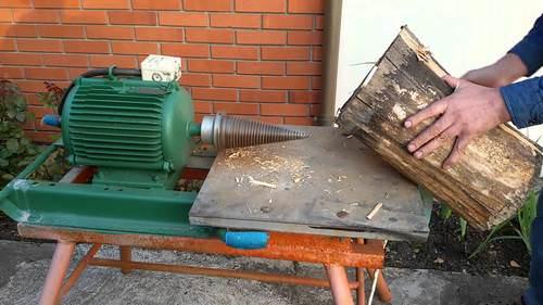 Дровокол из двигателя стиральной машины своими руками