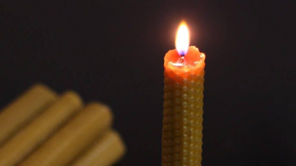Свечи на пчелином воске от геммороя
