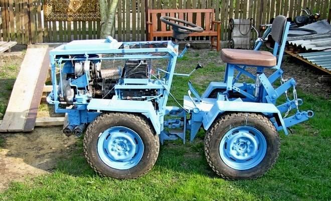 Мини трактор своими руками: схемы, чертежи, проекты и советы экспертов как сделать в домашних условиях механизм (105 фото и видео)