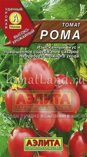 Томат рома: описание и характеристика сорта, отзывы дачников с фото