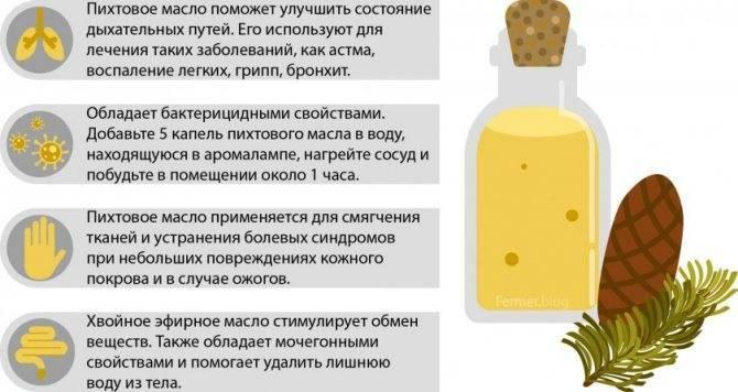 Пихтовое масло. лечебные свойства