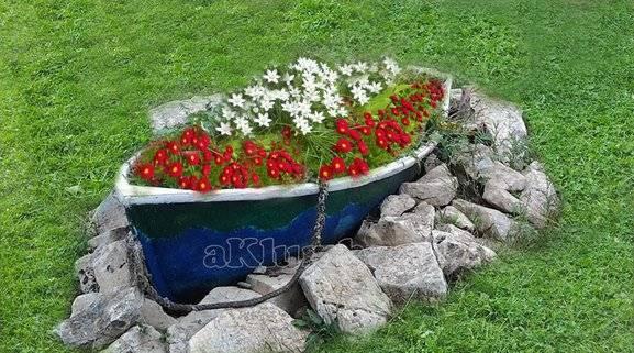 Оформление цветников на даче своими руками + фото