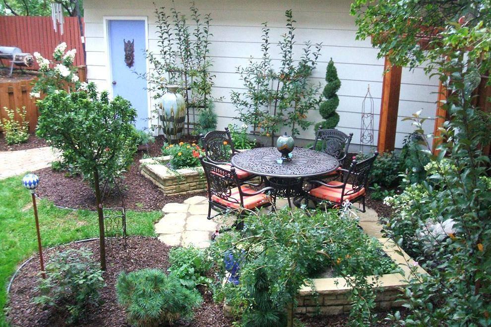 Дизайн садового участка 4 сотки: варианты для обустройства, 75 фото