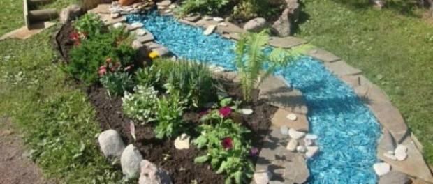 Сухой ручей своими руками на даче. топ-идей дизайна сухого ручья: многопоточный ручей, каскад, эффект мокрых камней. пошаговая инструкция с фото