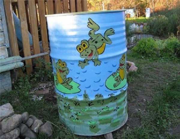 Как красиво украсить бочку в огороде саду. как украсить бочку на даче для воды. лучшие идеи и советы. как разрисовать бочку для воды