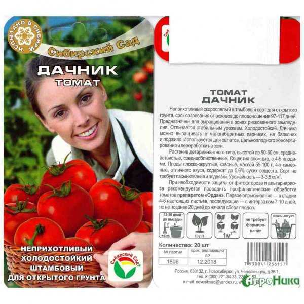 Фото, отзывы, описание, характеристика, урожайность сорта томата «дачник»