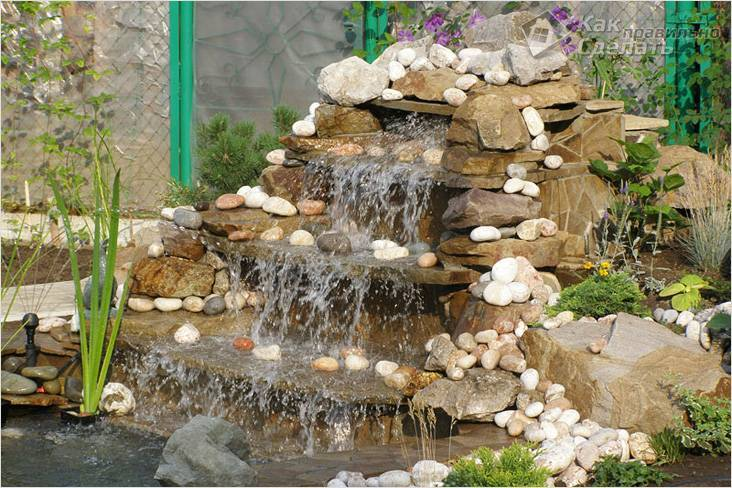 Водопад на даче своими руками: пошаговая инструкция