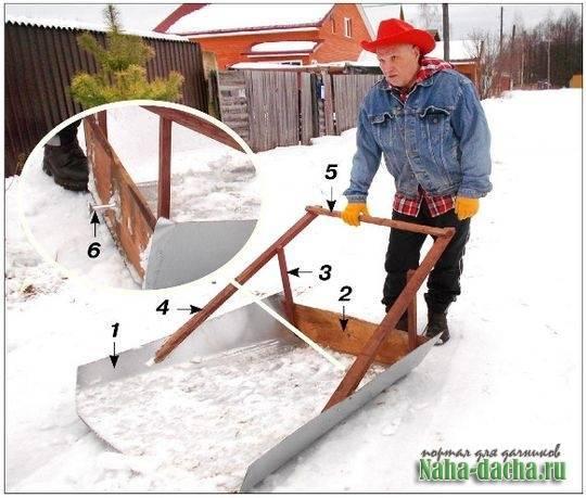 Как сделать снегоуборщик или лопату для снега своими руками