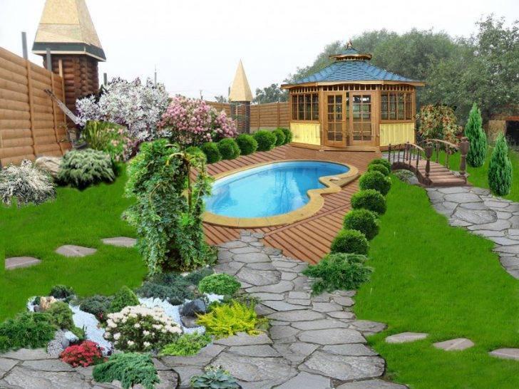 Дизайн садового участка площадью 6 соток своими руками (71 фото): ландшафтный дизайн дачного участка с грядками, как правильно посадить растения в огород