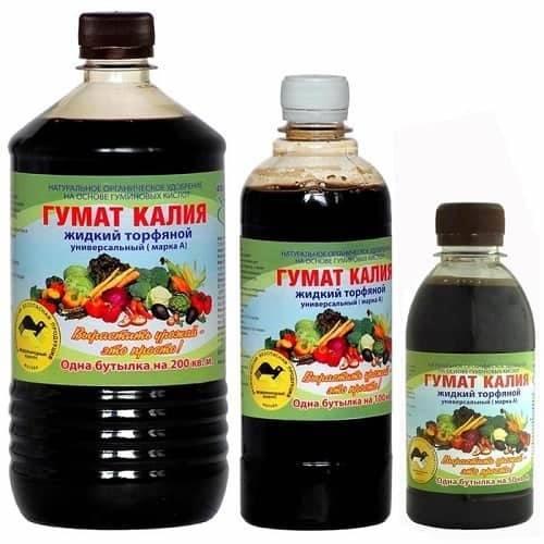 Гумат калия: инструкция по применению жидкого удобрения