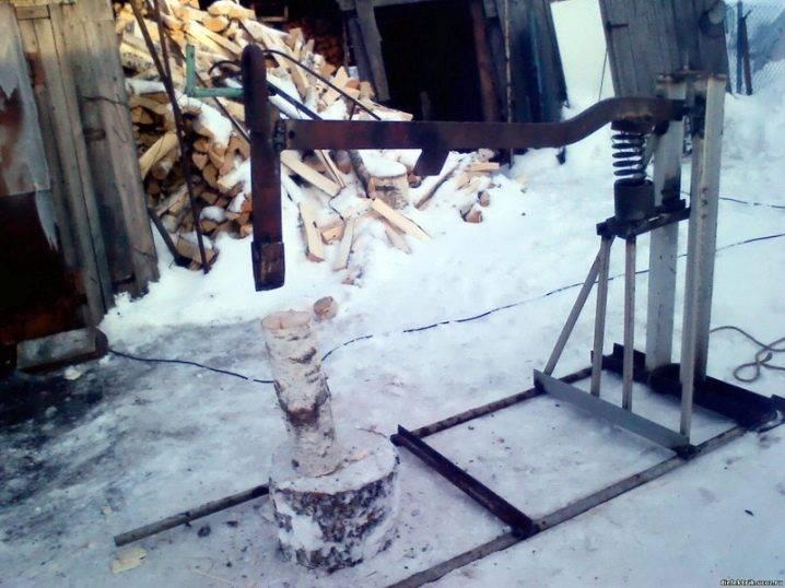 Как сделать дровокол из двигателя от стиральной