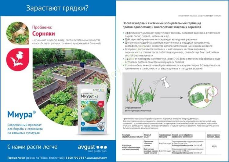 Гербицид «отличник» от сорняков на грядках: отзывы, инструкция по применению