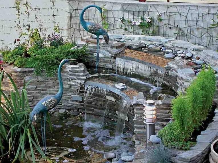 Водопад на даче своими руками — 93 фото оригинальных идей декора!