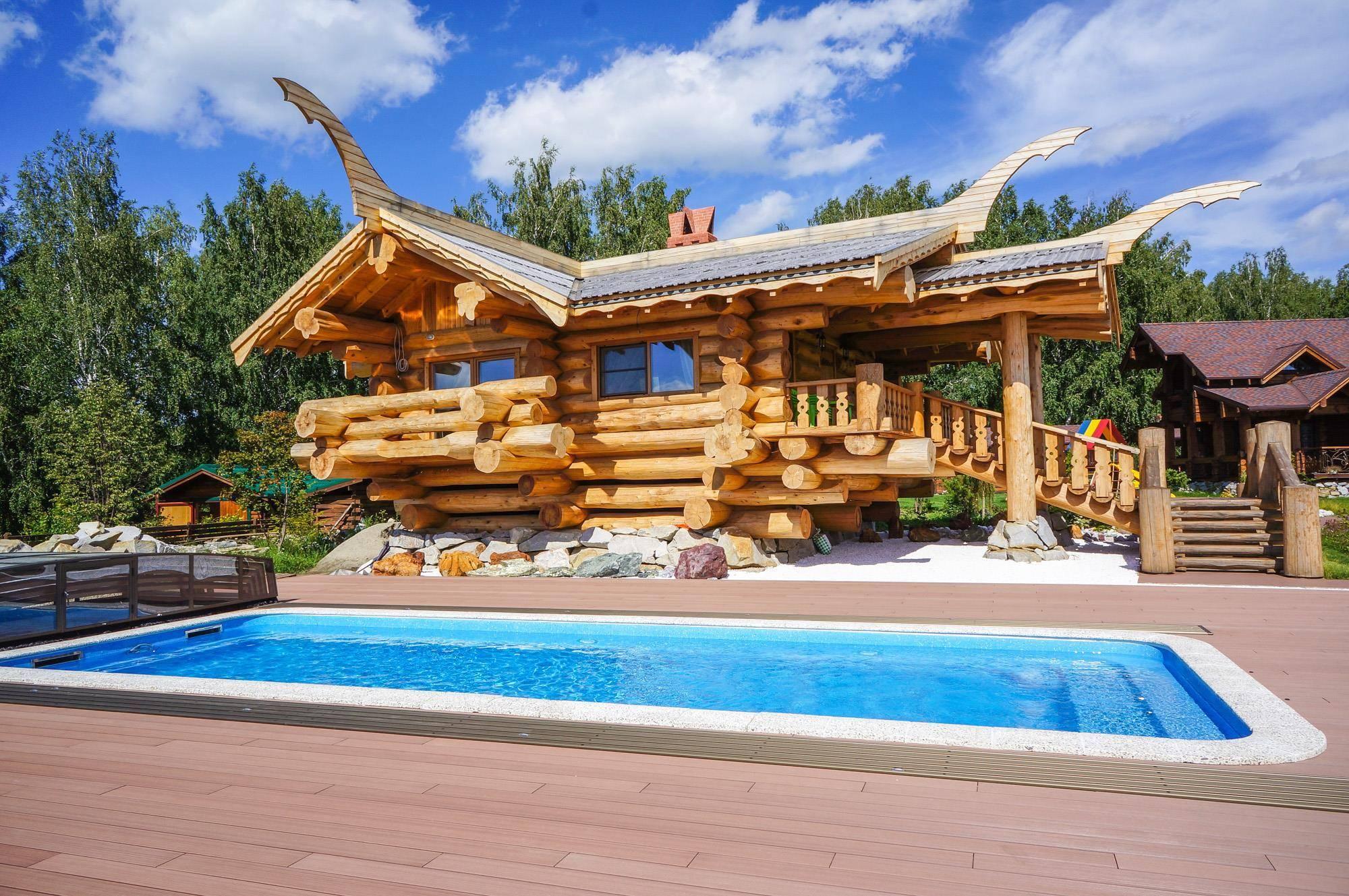 Красный канадский кедр для строительства деревянных домов - royal wood