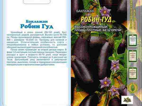 Сорт баклажанов робин гуд: характеристика, секреты успешного выращивания