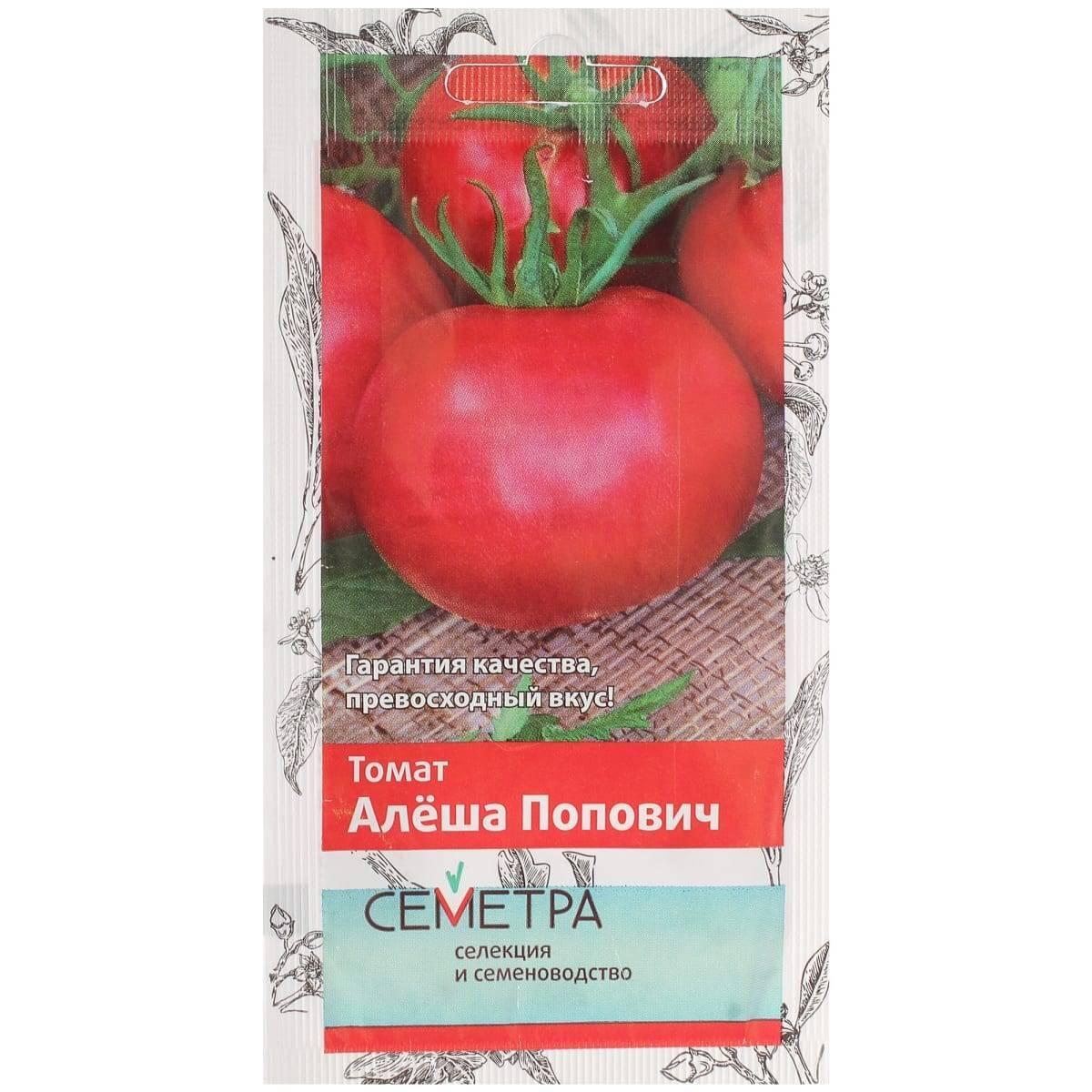Богатырский урожай до поздней осени — томат алеша попович: описание сорта и советы садоводов