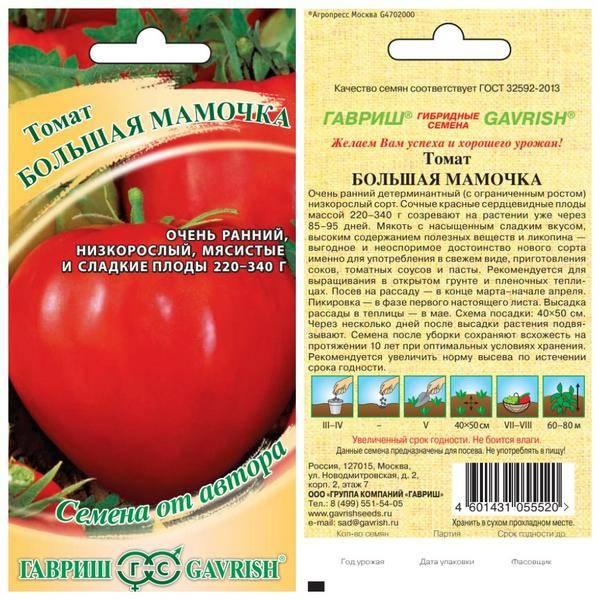 Сорт помидора «большая мамочка»: фото, отзывы, описание, характеристика, урожайность